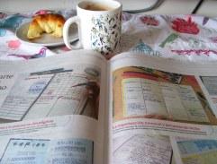Bullet journal y Té de Flor en el diario de hoy